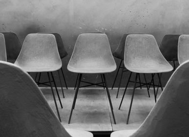 Chairs for hospitalities & contracts - hauteville - concrete chair - LYON BÉTON