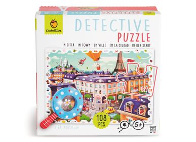 Children's arts and crafts - Ludattica Puzzles: THE CITY - Detective puzzle - LUDATTICA