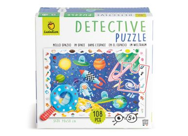 Children's arts and crafts - Ludattica Puzzles: IN SPACE - Detective puzzle - LUDATTICA
