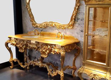 Chambres d'hôtels - Meuble de salle de bains en bois sculpté 4508 - BIANCHINI & CAPPONI