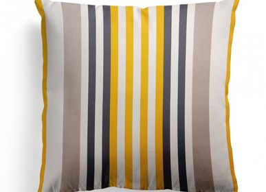 Fabric cushions - Ainhoa Gold Cotton Cushion Cover - LA MAISON JEAN-VIER