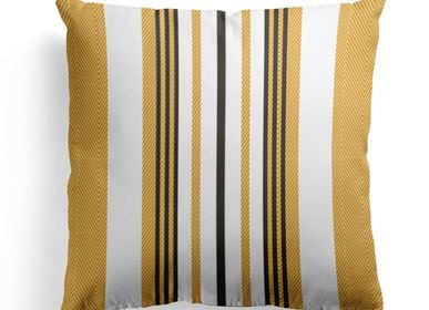 Fabric cushions - Donibane Laiton Cotton Cushion Cover - LA MAISON JEAN-VIER