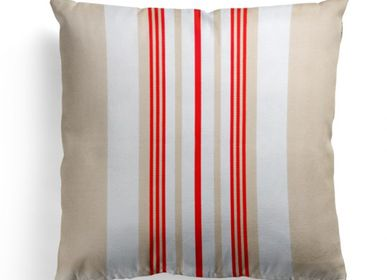 Fabric cushions - Donibane Fraise Cotton Cushion Cover - LA MAISON JEAN-VIER