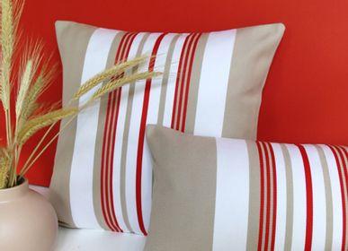 Fabric cushions - Donibane Fraise Cotton Cushion Cover - LA MAISON JEAN-VIER