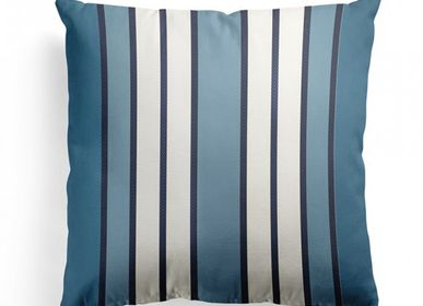 Fabric cushions - Espelette Bleu Nuit Cotton Cushion Cover - LA MAISON JEAN-VIER