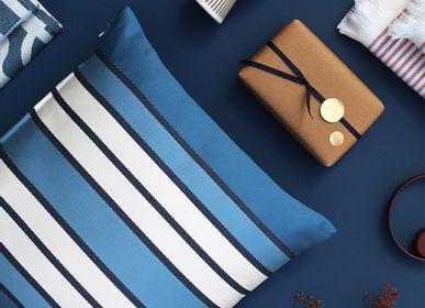 Fabric cushions - Espelette Bleu Nuit Cotton Cushion Cover - LA MAISON JEAN-VIER
