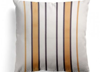 Fabric cushions - Espelette Argile Cotton Cushion Cover - LA MAISON JEAN-VIER