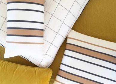 Fabric cushions - Espelette Argile Cotton Cushion Cover - LA MAISON JEAN-VIER