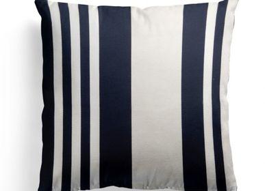 Fabric cushions - Cotton cushion cover Pampelune Encre - LA MAISON JEAN-VIER
