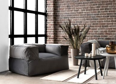 Lounge chairs for hospitalities & contracts - Bean bag MooG Barcelona Dark Grey - PUSKUPUSKU