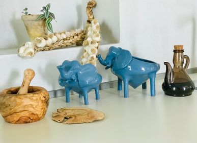 Design objects - THE BLUE-GRAY ELEPHANT BOWL - FREAKLAB