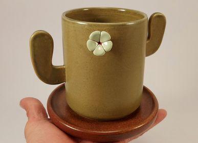 Mugs - Cactus   cup - PACHAMAMA DI E. OCCHI LABORATORIO ARTIGIANO DI CERAMICA