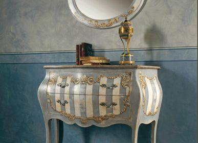 Chests of drawers - AP660/D7 - Louis XV hand-decorated chest of drawers - INTERIORS ITALIA
