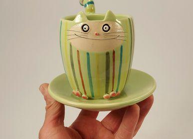 Tasses et mugs - Mug «Cat Cat» - PACHAMAMA DI E. OCCHI LABORATORIO ARTIGIANO DI CERAMICA