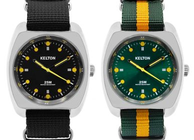 Watchmaking - RC2 nato blacl/green orange - KELTON