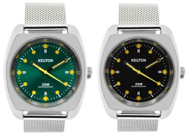 Watchmaking - RC2 milanese black/green - KELTON