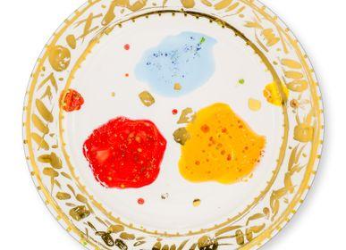 Formal plates - Rim Platter Caravaggio - CORALLA MAIURI