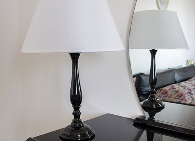 Table lamps - 017/G/Nero Lucido - DI BENEDETTO LAMPADE