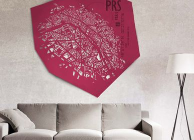 Unique pieces - Paris leather city map - Wall decoration - FRANK&FRANK