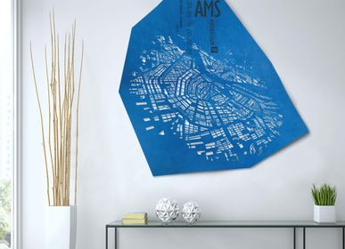 Design objects - Amsterdam leather city map - wall decoration - FRANK&FRANK