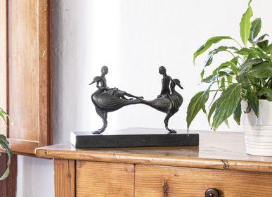 Sculptures, statuettes and miniatures - Sculpture COPPIA CIGNI - SIMONCINI ART