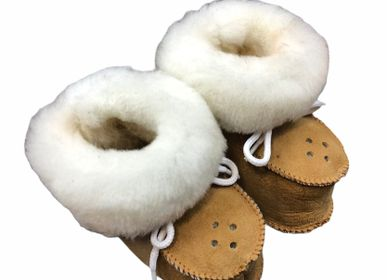 Children's slippers and shoes - Chaussons bébé en peau de mouton - TERGUS