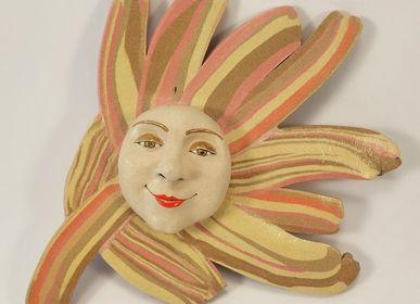 Ceramic - Sun to hang. - PACHAMAMA DI E. OCCHI LABORATORIO ARTIGIANO DI CERAMICA