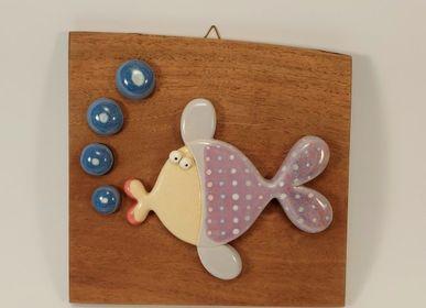 Objets de décoration - Du poisson à accrocher. - PACHAMAMA DI E. OCCHI LABORATORIO ARTIGIANO DI CERAMICA