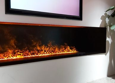 Design objects - 150 cm Water Vapor Fireplace - AFIRE 3D Electric Insert ADVANCE Design Decoration - AFIRE