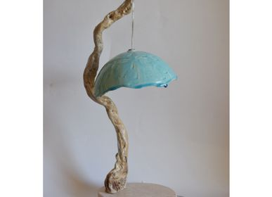 "Table lamps - Lamp ""Natura"" - light blue - TODINI SCULTURE"