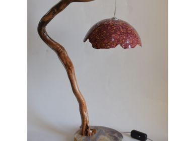 "Table lamps - Lamp ""Natura"" - magenta - TODINI SCULTURE"