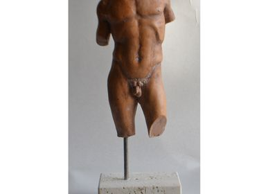 Sculptures, statuettes and miniatures -  Small Ceramic Male Torso - TODINI SCULTURE