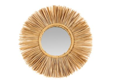 Mirrors - MAUI WOOD WALL MIRROR Ø70 AX21560 - ANDREA HOUSE