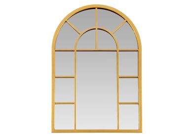 Mirrors - ARCH GOLDEN METAL WALL MIRROR 80X56X2.5 AX21562 - ANDREA HOUSE