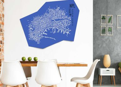 Design objects - Naples leather city map - Wall decoration - FRANK&FRANK
