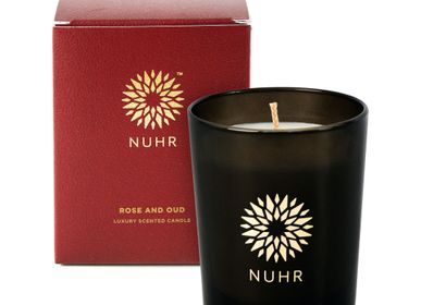 Cadeaux -  Rose & Oud Luxury Scented Candle - NUHR