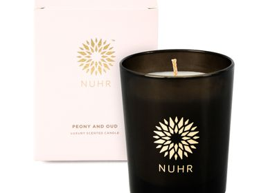 Cadeaux - Peony & Oud Luxury Scented Candle - NUHR