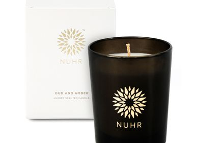 Cadeaux - Oud & Amber Luxury Scented Candle - NUHR
