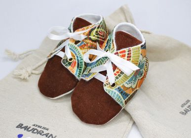 Children's apparel - Baby shoes, unique creation, 3/6 months - ATELIER  BAUDRAN