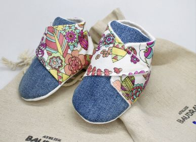 Children's apparel - Baby shoes, unique creation, 6/9 months - ATELIER  BAUDRAN