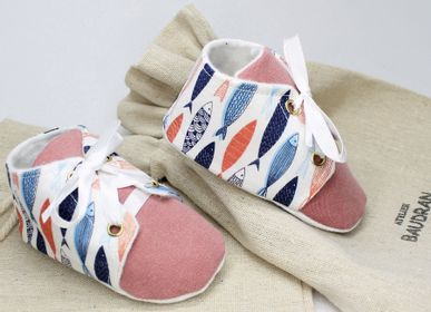 Children's apparel - Baby shoes, 3/6 months. - ATELIER  BAUDRAN
