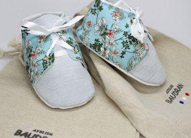 Children's apparel - Baby shoes, unique creation, 6/9 months - ATELIER  BAUDRAN