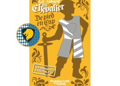Children's dress-up - The Knight's Tabard, to be sewn together (Lion) - MANUFACTURE EN FAMILLE