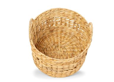 Baskets - SET 3 WATER HYACINTH BASKETS Ø35X33 AX21506 - ANDREA HOUSE