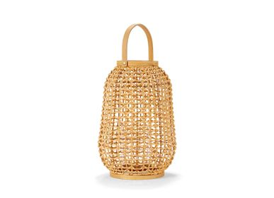 Decorative objects - RATTAN LANTERN 26X26X39 AX21515 - ANDREA HOUSE