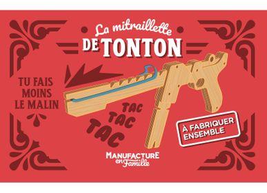 Jouets enfants - La mitraillette de Tonton – mitraillette à élastique en bois à construire - MANUFACTURE EN FAMILLE