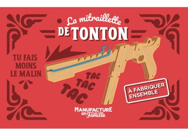 Toys - Tonton's Machine Gun — Elastic bands Wood Machine Gun to build together - MANUFACTURE EN FAMILLE