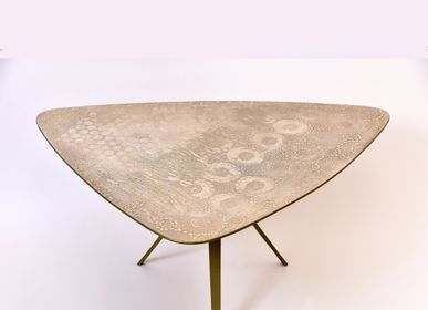 Coffee tables - TABLE BASSE PLECTRUM - BRONZE - ALICE CORBETTA