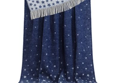 Throw blankets - Blue Stars Throw - J.J. TEXTILE LTD