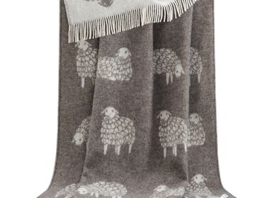 Throw blankets - Brown Mima Sheep Throw - J.J. TEXTILE LTD